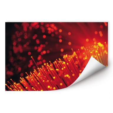 Wallprint Lichtfasern abstrakt