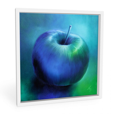 Wandbild Schmucker - Blauer Apfel