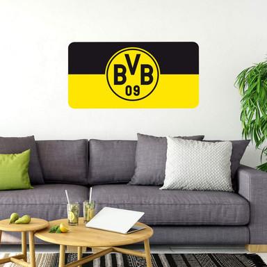 Wandsticker Borussia Dortmund Banner schwarz/gelb