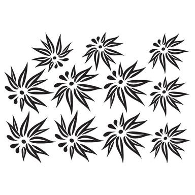 Wandtattoo Blüten-Set 11