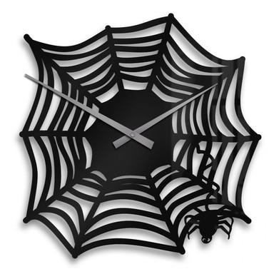 Wanduhr Spinnennetz