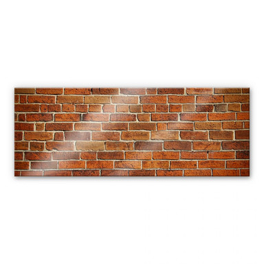 Acrylglasbild Ziegelsteinmauer Panorama