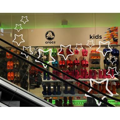Glasdekor Sterne V 12er Set
