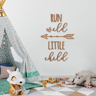 Holzkunst Mahagoni - Run wild little child