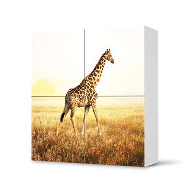 Klebefolie IKEA Besta Schrank 4 Türen - Savanna Giraffe- Bild 1