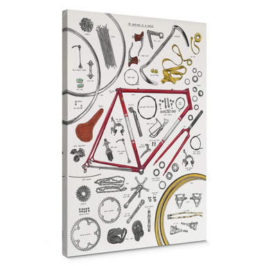 Leinwandbild Sparshott - Aufbau eines Fahrrads