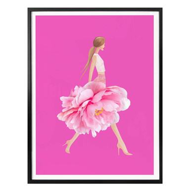 Poster Korenkova - Fashion Girl pink