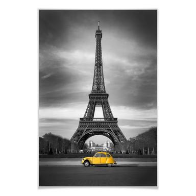Poster La vie est belle - gelb