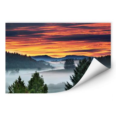 Wallprint Nebel in den Bergen