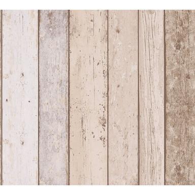 A.S. Création Papiertapete il Decoro Tapete in maritimer Vintage Holz Optik beige, blau, braun