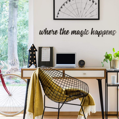 Acrylbuchstaben Where the magic happens