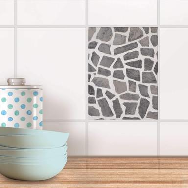 Fliesensticker - Steinmosaik