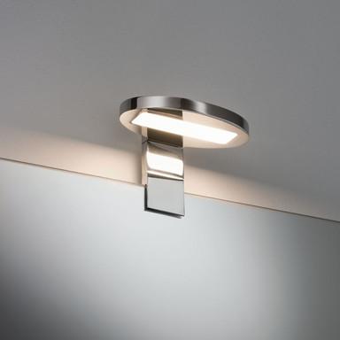 Galeria Spiegel- und Aufschrankleuchte LED, Oval 3.2W Chrom, inkl. Leuchtmittel