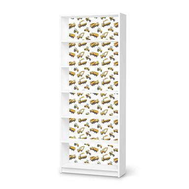 Klebefolie IKEA Billy Regal 6 Fächer - Working Cars- Bild 1