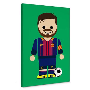 Leinwandbild Gomes - Messi Spielzeug