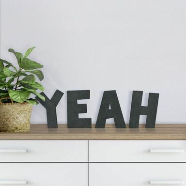 MDF-Holzbuchstaben Yeah