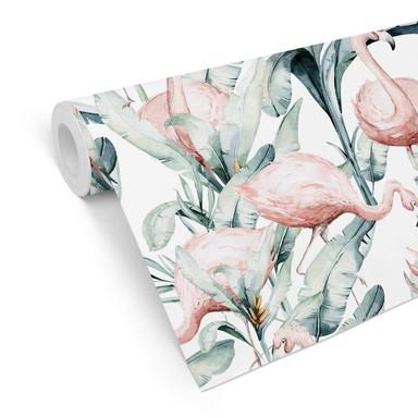 Mustertapete Kvilis - Tropical Flamingo