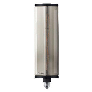 Philips LED Crystal Giant Smoky ersetzt 35W, E27. warmweiss, 2000 Kelvin, 400 Lumen, Dekolampe, nicht dimmbar Energieklasse A