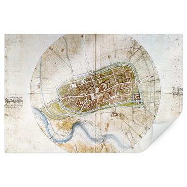 Poster da Vinci - Stadtplan von Imola