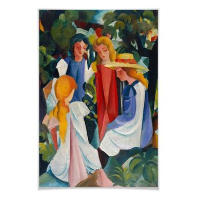 Poster Macke - Vier Mädchen