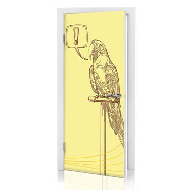 Türdeko Ausrufezeichen Papageien Illustration - Bild 1