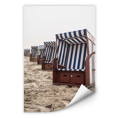 Wallprint Strandkorb auf Norderney