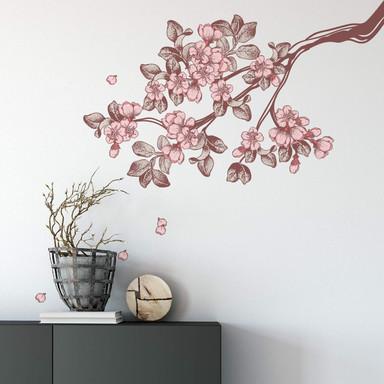 Wandsticker Vintage Kirschblüten