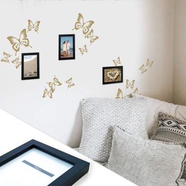Wandtattoo Schmetterlinge inkl. 3 Bilderrahmen