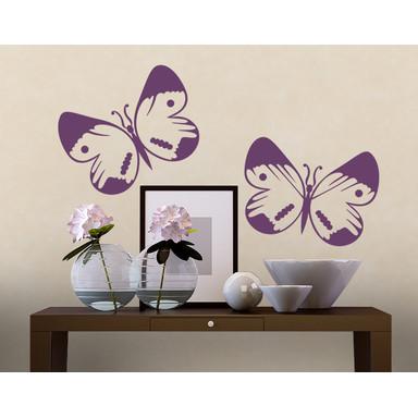 Wandtattoo Schmetterlingsduo