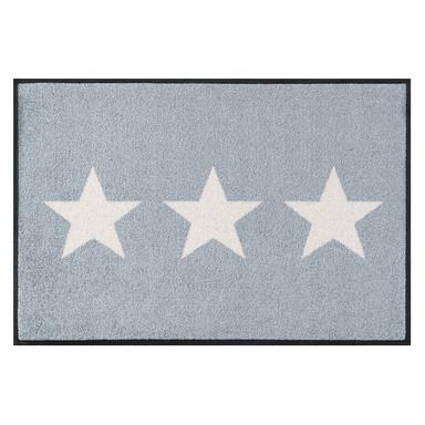 Wash&Dry Decor Fussmatte Stars grey