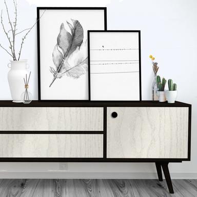 Dekofolie White Holzoptik - selbstklebend  - Bild 1