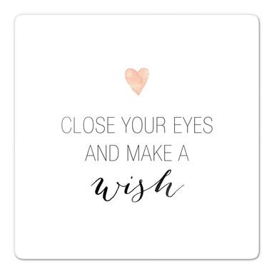 Glasbild Confetti & Cream - Make a wish
