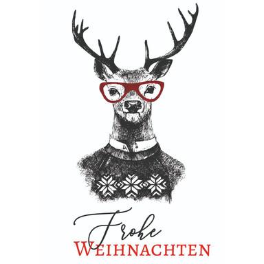 Gutschein Weihnachten - Rentier - Merry Christmas