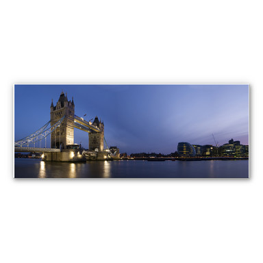 Hartschaumbild Tower Bridge an der Themse - Panorama