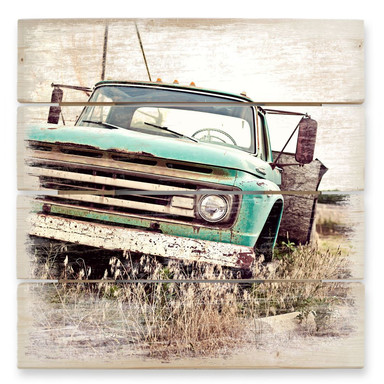 Holzbild American rusted Truck
