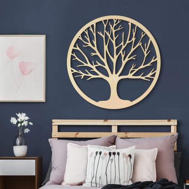 Holzdeko Pappel Furnier - Baum des Lebens