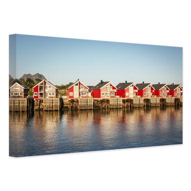 Leinwandbild Ferienhäuser am Meer