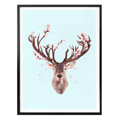 Poster Loose - Cherry Blossom Deer