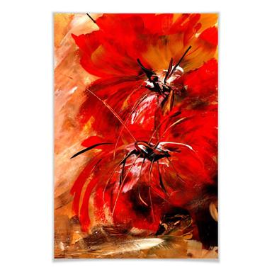 Poster Niksic - Feuerblumen