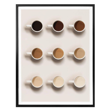 Poster Shades of coffee