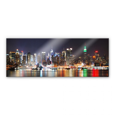 Acrylglasbild New York Skyline - Panorama