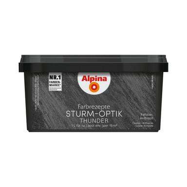 Alpina Farbrezepte STURM-OPTIK Anthrazit - 1 Liter - Bild 1