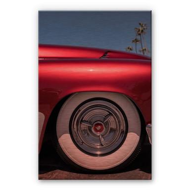 Alu-Dibond-Kupfereffekt Ochlich - Red Oldtimer