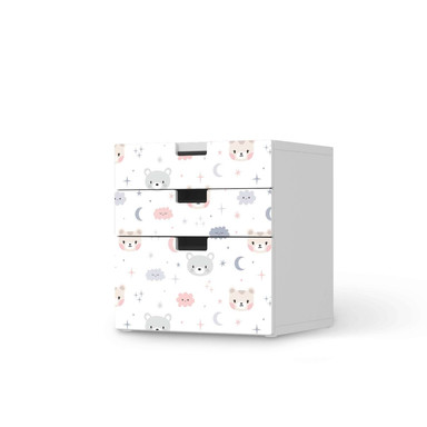 Folie IKEA Stuva / Malad Kommode - 3 Schubladen - Sweet Dreams