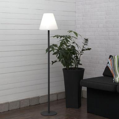 Garten Stehleuchte Gardenlight aus Metall in Grau und Weiss E27