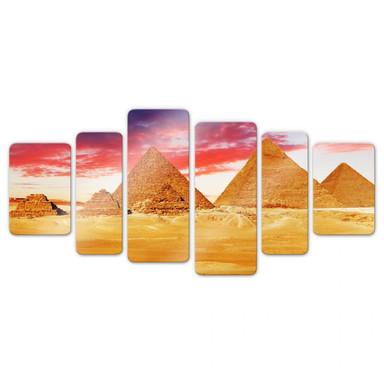 Glasbild Die Pyramiden von Gizeh (6-teilig)