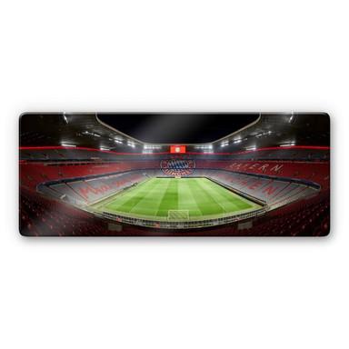 Glasbild FCB Stadion bei Nacht