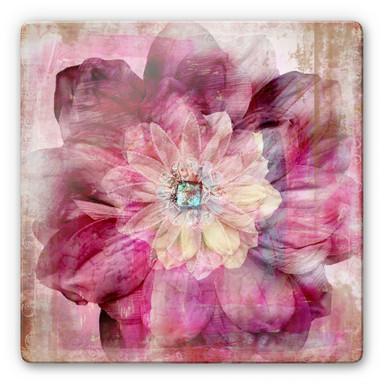 Glasbild Pink Peony