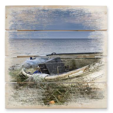 Holzbild Fischerboot