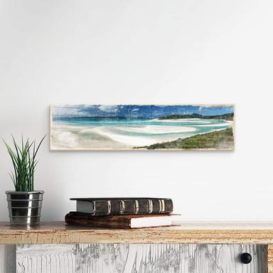 Holzschild Whiteheaven Beach